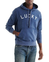 Lucky Brand Sueded Terry Varsity Hoodie
