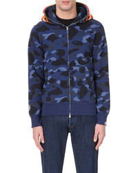 A Bathing Ape Tiger Face Cotton Jersey Hoody