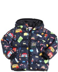 Dolce & Gabbana Drawings Printed Nylon Down Jacket