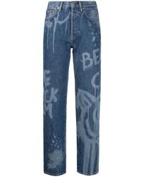 Acne Studios Bleached Effect Denim Jeans
