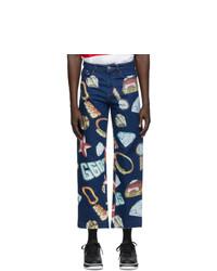 Gcds Blue Denim Jewel Jeans