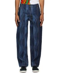 Ahluwalia Indigo Joy Low Rise Jeans