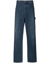 orSlow Paint Splatter Straight Leg Jeans