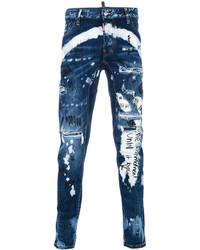 DSQUARED2 Tidy Biker Printed Jeans