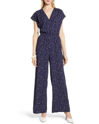 Halogen Faux Wrap Jumpsuit