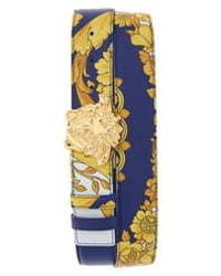 Versace Palazzo Medusa Reversible Leather Belt