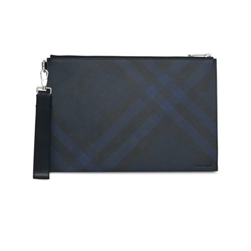 c716432a6ca4 ... Leather Zip Pouches Burberry London Check Zip Pouch ...