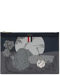 Thom Browne Navy Story Scene Zippelet Pouch