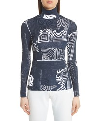 Balenciaga Graphic Print Jersey Top