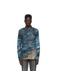 Hugo Blue Marble Print Ero3 W Shirt