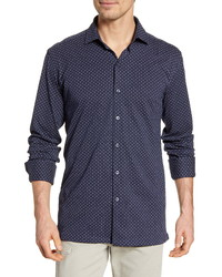 Bugatchi Classic Fit Knit Button Up Shirt