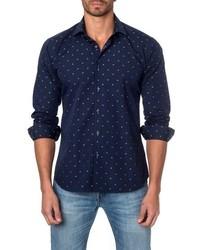 Jared Lang Dot Print Sport Shirt