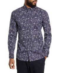 Selected Homme Freddie Slim Fit Floral Print Button Up Shirt