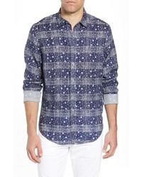 Coastaoro Gustavo Regular Fit Plaid Linen Sport Shirt