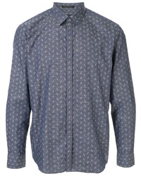 D'urban Long Sleeved Abstract Print Shirt