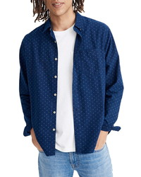 Madewell Perfect Tri Dot Indigo Shirt