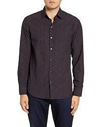 Robert Barakett Powell River Regular Fit Floral Button Up Shirt