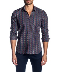 Jared Lang Regular Fit Print Sport Shirt