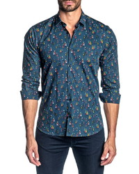 Jared Lang Slim Fit Button Up Shirt