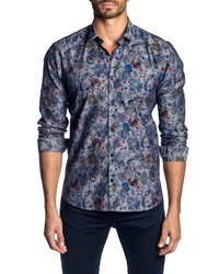 Jared Lang Slim Fit Print Sport Shirt