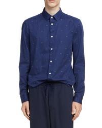Kenzo Urban Slim Fit Eye Pattern Sport Shirt