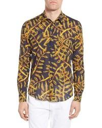 Vilbrequin gold palms voile sport shirt medium 8679179