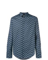 Emporio Armani Zigzag Print Shirt