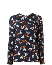 MSGM Cat Print Longsleeved T Shirt