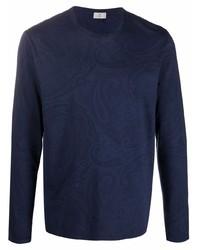 Etro Paisley Print Long Sleeved T Shirt