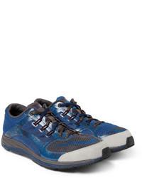 Navy Print Low Top Sneakers