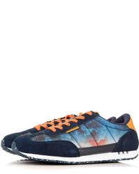Topman Hype Navy Print Sneakers