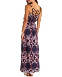 Charlotte Russe Strappy Back Paisley Print Maxi Dress