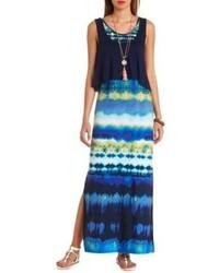 Charlotte Russe Tie Dye Flounce Maxi Dress