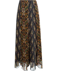 Anna Sui Printed Maxi Skirt
