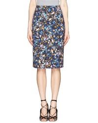 Nobrand Frida Floral Blossom Print Pencil Skirt