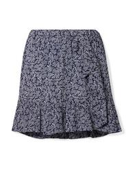 MICHAEL Michael Kors Ruffled Printed Crepe Mini Skirt