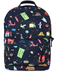 Dolce & Gabbana Drawings Printed Nylon Backpack