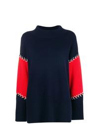 Chinti & Parker Contrast Stitch Panelled Sweater