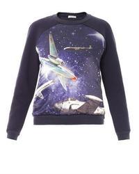 Emma Cook Plane Print Cotton Sweatshirt
