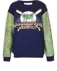Tee cake tee and cake grasshopper sleeve sweatshirt medium 12158