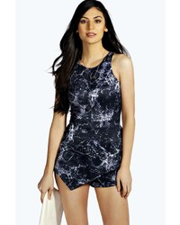 Navy Print Playsuit