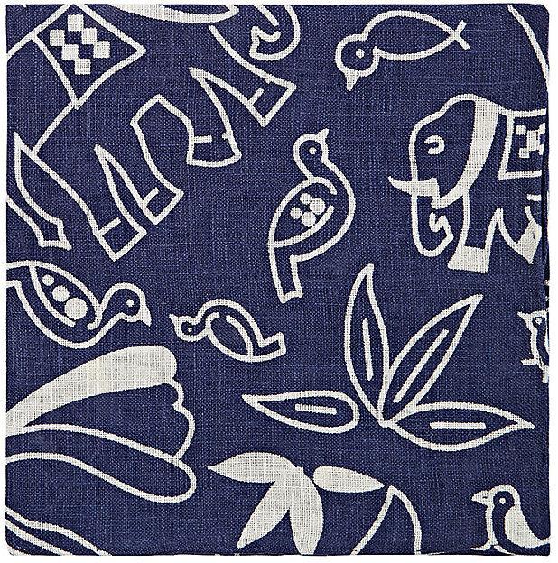 f23773132f03e Barneys New York Animal Floral Print Linen Pocket Square, $85 ...