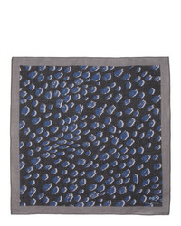 Ps By Paul Smith Black Cheetah Pocket Square