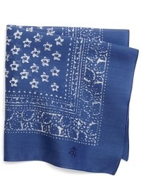 Brooks Brothers Bandana Print Pocket Square