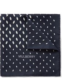 Mulberry Leaf Print Silk Twill Pocket Square