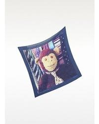 Paul Smith Mr Brown Ties Print Pocket Square