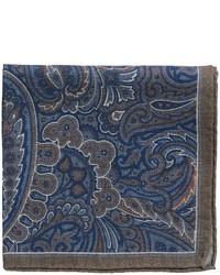 Altea Print Paisley Pocket Square Wool