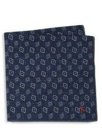 Isaia Printed Pocket Square