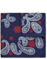 Alex Mill Printed Wool Twill Pocket Square