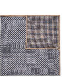 Brunello Cucinelli Reversible Printed Silk Pocket Square